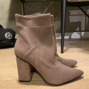 H by Halston Ribbed Sock Booties